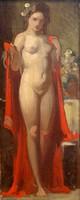 STEIN JÁNOS GÁBOR (1874 - 1944):Női akt vörös drapériával