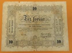 """10 forint 1848 """"Büntetettnek"""""""