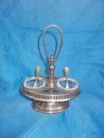 Antik fém üvegbetétes fűszer kínáló