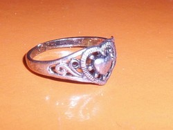 Régi SZÍV a SZÍVBEN  mint.Tibeti ezüst gyűrű 7-es
