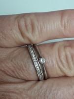 Gyűrű szett briliánsokkal