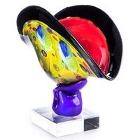 Monumentális üvegtál - Muranoi stílusú - Érdekes műalkotás