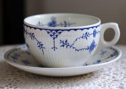 """Furnivals England """"Denmark"""" dekoros, angol fajansz teás csésze szett"""