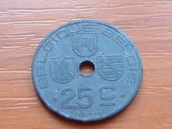 BELGIUM BELGIQUE - BELGIE 25 CENTIMES 1942 WW II CINK