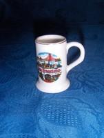San Francisco emlék porcelán korsó 6 cm (24/d)