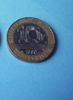 Francia 10 Francs érme (Bimetal)