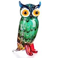Különleges bagoly figura - Muranoi stílusú - Érdekes műalkotás
