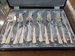 Ezüst vacsorázó készlet 6 személyes