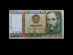 UNC - 1000 INTIS - PERU - 1988 (Old money)