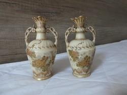 Fischer Emil miniatűr vázapár