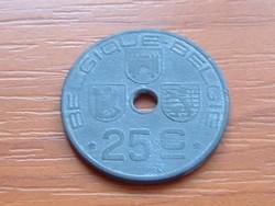 BELGIUM BELGIQUE - BELGIE 25 CENTIMES 1946 WW II CINK