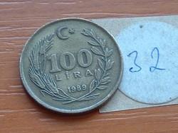 TÖRÖK 100 LÍRA 1989 32.