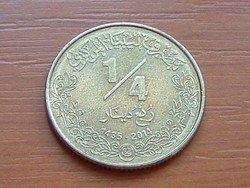 LÍBIA 1/4 DINÁR  2014 AH1435 HOLOGRAM #
