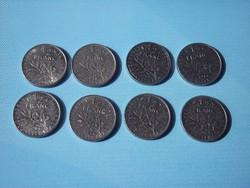 Francia 1/2 franc érmék