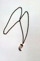 Antique Nyaklanc agyar medallal