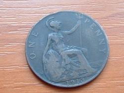 ANGOL ANGLIA 1 PENNY 1913