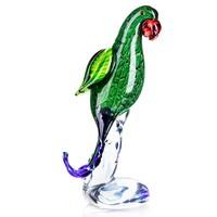 Különleges papagáj figura - Muranoi stílusú - Érdekes műalkotás