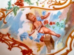 Francia süteményes tányér angyalkás