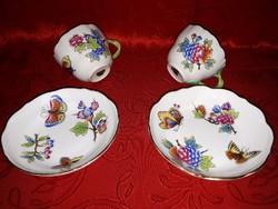 Antik herendi csészék, cseh porcelánra festve