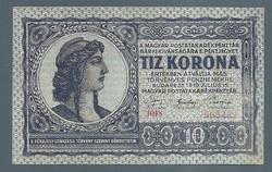 10 Korona 1919 friggiai sapkás változat