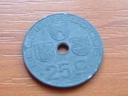 BELGIUM BELGIE - BELGIQUE 25 CENTIMES 1944 WW II CINK