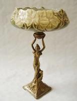 Szecessziós-art nouveau asztalközép-kínáló-gyümölcstàl