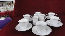 Apulum porcelán 19 darabos teáskészlet, arany díszítéssel.