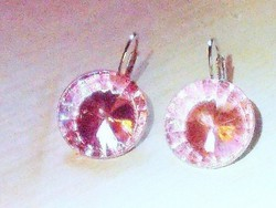 Rózsaszínű Kristályos Fülbevaló