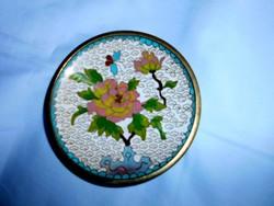Rekesz zománc  (Cloissoné)  antik tál 10,5 cm