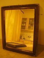 Tükör Antik,lépcsőzetes Rózsafa Keretben jelzett  ritkaság 29 x24 cm