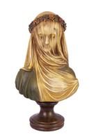 Terrakotta büszt -fátylas nő