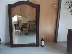 Óbudán óriási ónémet tükör (117x77 cm)