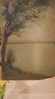 Akvarell festmény:Siófok