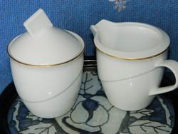 Rosenthal porcelán cukortartó, fehér