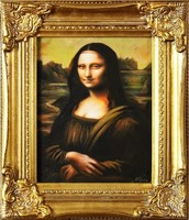 Leonardo da Vinci: Mona Lisa and Lady with Hermini, exclusive oil painting based on antique painting