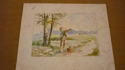 """Akvarell:""""Vándorúton"""""""