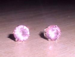 Rózsaszínű cz köves fülbevaló