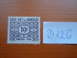COTE FR. DES SOMALIS FRANCIA SZOMÁLI PART 10 C 1947 számjegyek TAXE D126