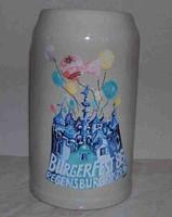 Nagyméretű német sörös kupa, korsó 1986, hibátlan