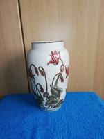 1,-Ft Gyönyörű nagyméretű 150-ik Jubileumi Zsolnay Orchideás váza!