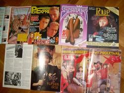 5 db retró pop-rock újság ifjúsági magazin sok fotóval köztük 1.évf.1. számok is!