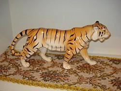 Nagyon szép és hibátlan porcelán tigris 35 cm hosszú