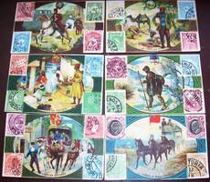 6 litho A posta címerek bélyegek, gyűjtőkártya LEJET