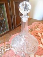 Ólomkristály palack dugóval 28 cm