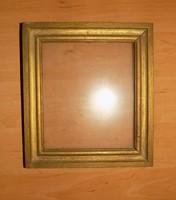 Retro üvegezett fa képkeret 21*23,5 cm (n-5)