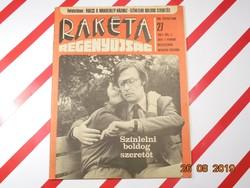 Régi  újság - Rakéta - hetente megjelenő regényújság 1981 Július 7.