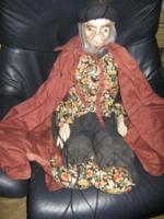 Régi báb marionett méteres