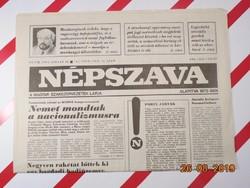 Régi  retro újság - Népszava - 1993 január 18.  - A Magyar Szakszervezetek Lapja