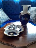 Reichenbach porcelán váza (29cm) és kínáló