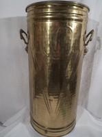 Esernyőtartó - ANGOL - sárgaréz - mindkét oldalán dombornyomyott minta - míves fogantyú - 40 x 18 c